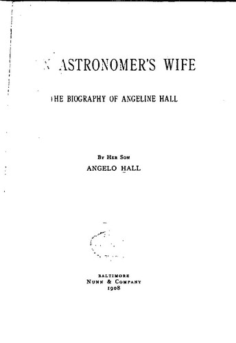 analysis of the astronomers wife The astronomer's wife community note includes chapter-by-chapter summary  and analysis, character list, theme list, historical context, author biography and.